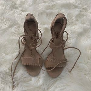 RAYE: Brandy Whipstitched Heels- Size 6